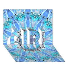 Sapphire Ice Flame, Light Bright Crystal Wheel Girl 3d Greeting Card (7x5)  by DianeClancy