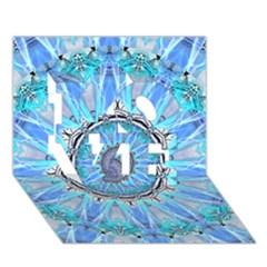 Sapphire Ice Flame, Light Bright Crystal Wheel Love 3d Greeting Card (7x5)  by DianeClancy