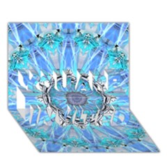 Sapphire Ice Flame, Light Bright Crystal Wheel You Are Invited 3d Greeting Card (7x5)  by DianeClancy
