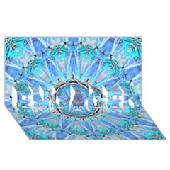 Sapphire Ice Flame, Light Bright Crystal Wheel Engaged 3d Greeting Card (8x4)  by DianeClancy