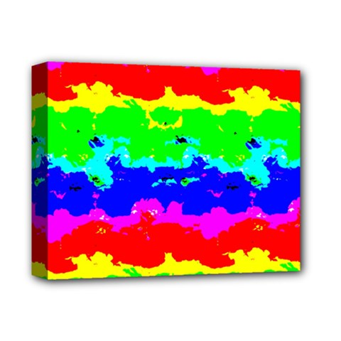 Colorful Digital Abstract  Deluxe Canvas 14  X 11  by dflcprints