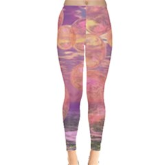 Glorious Skies, Abstract Pink And Yellow Dream Leggings  by DianeClancy