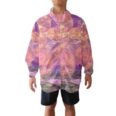 Glorious Skies, Abstract Pink And Yellow Dream Wind Breaker (kids) by DianeClancy