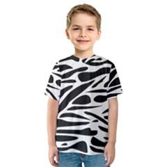 Zebra Stripes Skin Pattern Black And White Kid s Sport Mesh Tee by CircusValleyMall