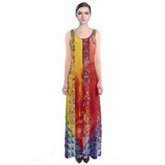 Conundrum I, Abstract Rainbow Woman Goddess  Full Print Maxi Dress by DianeClancy