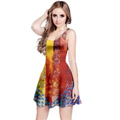 Conundrum I, Abstract Rainbow Woman Goddess  Reversible Sleeveless Dress by DianeClancy
