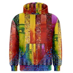 Conundrum I, Abstract Rainbow Woman Goddess  Men s Zipper Hoodie by DianeClancy