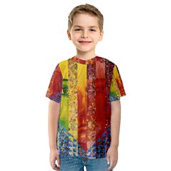 Conundrum I, Abstract Rainbow Woman Goddess  Kid s Sport Mesh Tee by DianeClancy