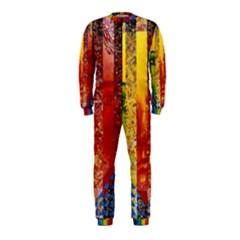 Conundrum I, Abstract Rainbow Woman Goddess  Onepiece Jumpsuit (kids) by DianeClancy