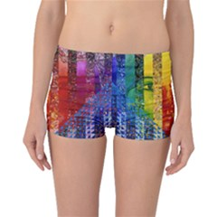 Conundrum I, Abstract Rainbow Woman Goddess  Boyleg Bikini Bottoms by DianeClancy