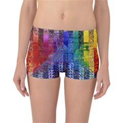 Conundrum I, Abstract Rainbow Woman Goddess  Reversible Boyleg Bikini Bottoms by DianeClancy