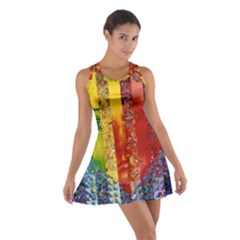 Conundrum I, Abstract Rainbow Woman Goddess  Racerback Dresses by DianeClancy