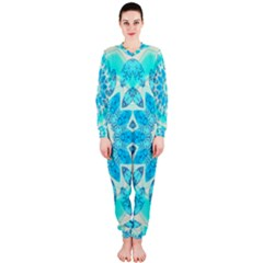 Blue Ice Goddess, Abstract Crystals Of Love Onepiece Jumpsuit (ladies)  by DianeClancy