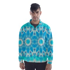 Blue Ice Goddess, Abstract Crystals Of Love Wind Breaker (men) by DianeClancy