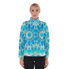 Blue Ice Goddess, Abstract Crystals Of Love Winterwear