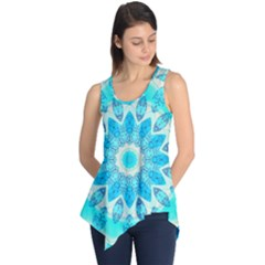 Blue Ice Goddess, Abstract Crystals Of Love Sleeveless Tunic by DianeClancy