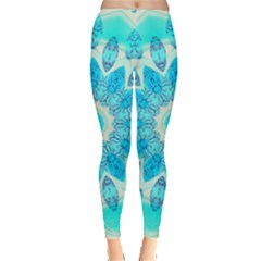 Blue Ice Goddess, Abstract Crystals Of Love Leggings  by DianeClancy