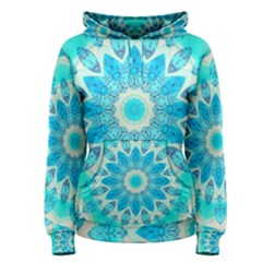 Blue Ice Goddess, Abstract Crystals Of Love Women s Pullover Hoodie
