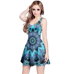 Star Connection, Abstract Cosmic Constellation Reversible Sleeveless Dress