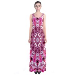 Twirling Pink, Abstract Candy Lace Jewels Mandala  Full Print Maxi Dress