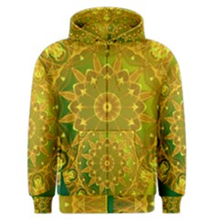 Yellow Green Abstract Wheel Of Fire Men s Zipper Hoodie