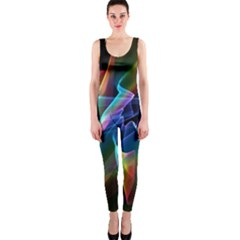 Aurora Ribbons, Abstract Rainbow Veils  Onepiece Catsuit