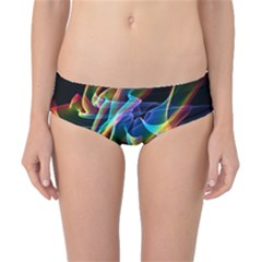 Aurora Ribbons, Abstract Rainbow Veils  Classic Bikini Bottoms by DianeClancy