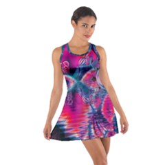 Cosmic Heart of Fire, Abstract Crystal Palace Racerback Dresses by DianeClancy