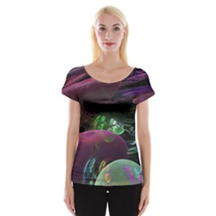 Creation Of The Rainbow Galaxy, Abstract Women s Cap Sleeve Top by DianeClancy