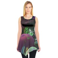 Creation Of The Rainbow Galaxy, Abstract Sleeveless Tunic by DianeClancy