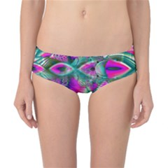 Crystal Flower Garden, Abstract Teal Violet Classic Bikini Bottoms by DianeClancy