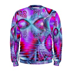 Crystal Northern Lights Palace, Abstract Ice  Men s Sweatshirt by DianeClancy