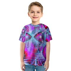 Crystal Northern Lights Palace, Abstract Ice  Kid s Sport Mesh Tee