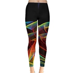Dancing Northern Lights, Abstract Summer Sky  Leggings  by DianeClancy