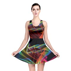 Dancing Northern Lights, Abstract Summer Sky  Reversible Skater Dress by DianeClancy