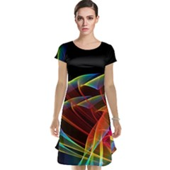 Dancing Northern Lights, Abstract Summer Sky  Cap Sleeve Nightdress by DianeClancy