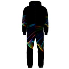 Flowing Fabric Of Rainbow Light, Abstract  Hooded Jumpsuit (men)  by DianeClancy