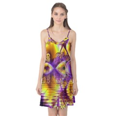 Golden Violet Crystal Palace, Abstract Cosmic Explosion Camis Nightgown by DianeClancy