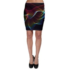 Imagine, Through The Abstract Rainbow Veil Bodycon Skirts by DianeClancy