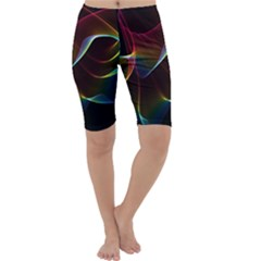 Imagine, Through The Abstract Rainbow Veil Cropped Leggings by DianeClancy