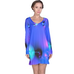 Love In Action, Pink, Purple, Blue Heartbeat 10000x7500 Long Sleeve Nightdress by DianeClancy
