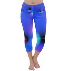 Love In Action, Pink, Purple, Blue Heartbeat 10000x7500 Capri Winter Leggings  by DianeClancy