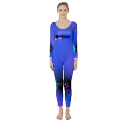 Love In Action, Pink, Purple, Blue Heartbeat 10000x7500 Long Sleeve Catsuit by DianeClancy