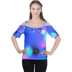 Love In Action, Pink, Purple, Blue Heartbeat 10000x7500 Women s Cutout Shoulder Tee by DianeClancy