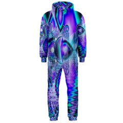 Peacock Crystal Palace Of Dreams, Abstract Hooded Jumpsuit (men)  by DianeClancy
