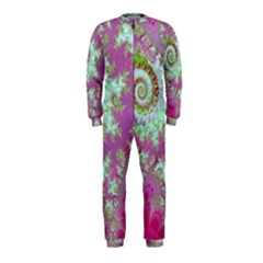 Raspberry Lime Surprise, Abstract Sea Garden  Onepiece Jumpsuit (kids) by DianeClancy