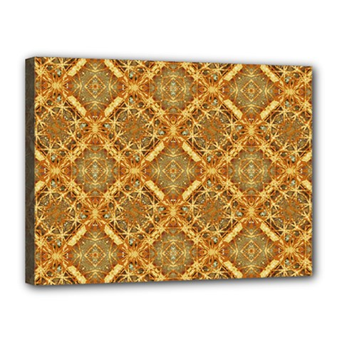 Luxury Check Ornate Pattern Canvas 16  X 12  by dflcprints