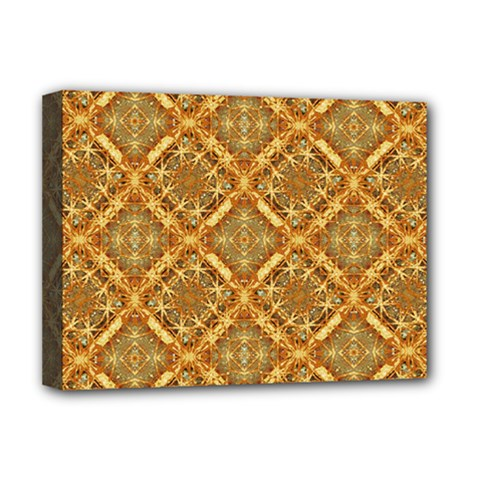 Luxury Check Ornate Pattern Deluxe Canvas 16  X 12   by dflcprints