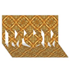 Luxury Check Ornate Pattern Mom 3d Greeting Card (8x4)  by dflcprints