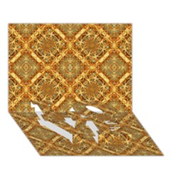 Luxury Check Ornate Pattern Love Bottom 3d Greeting Card (7x5)  by dflcprints